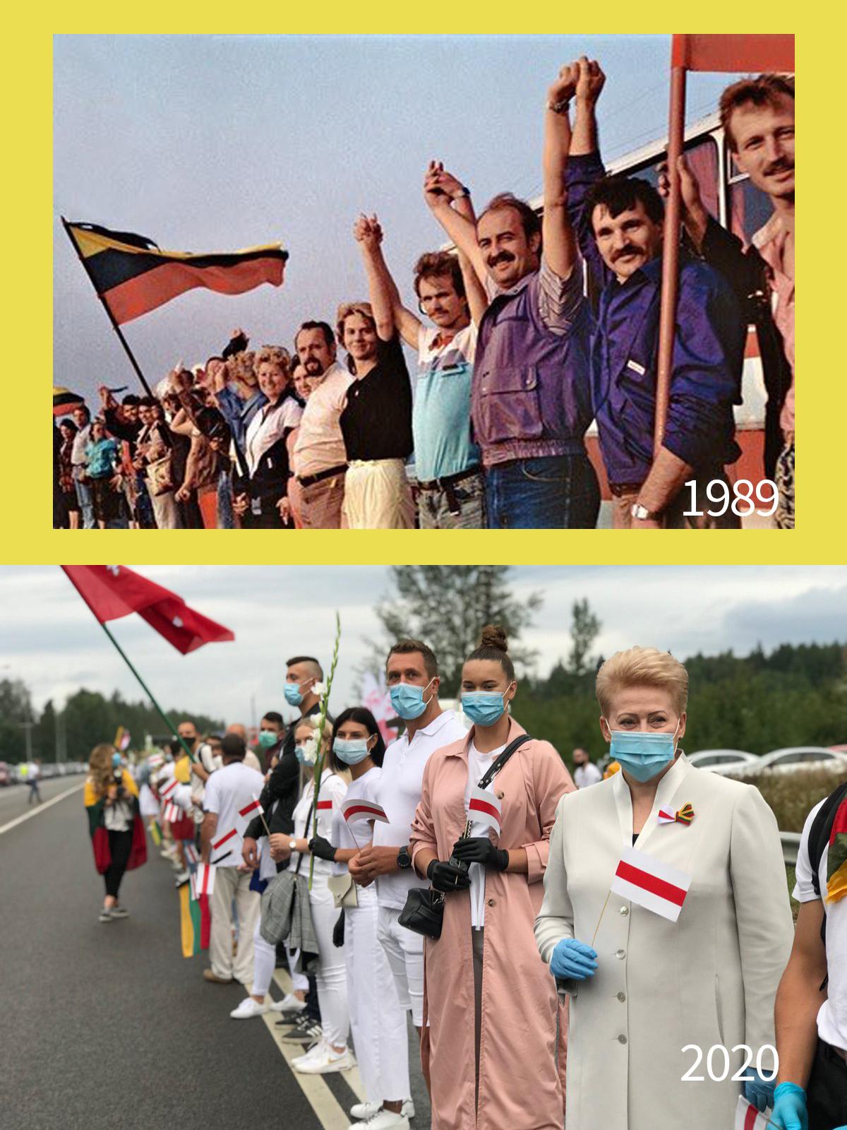 二百萬人,人鏈,波羅的海,白羅斯,爭取自由FreeBelarus, FreedomWay, ZhyveBelarus
