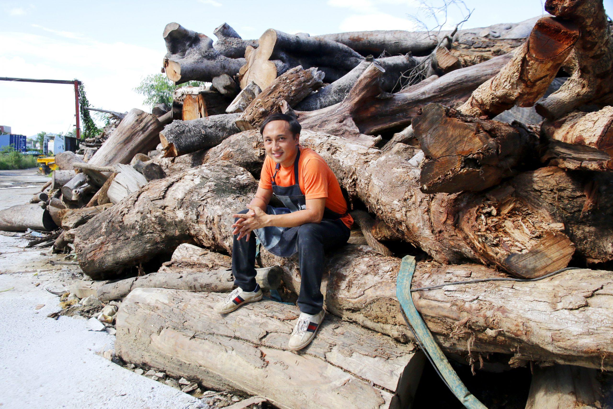 香港木庫 回收榻樹 造傢具 創辦人 Ricci