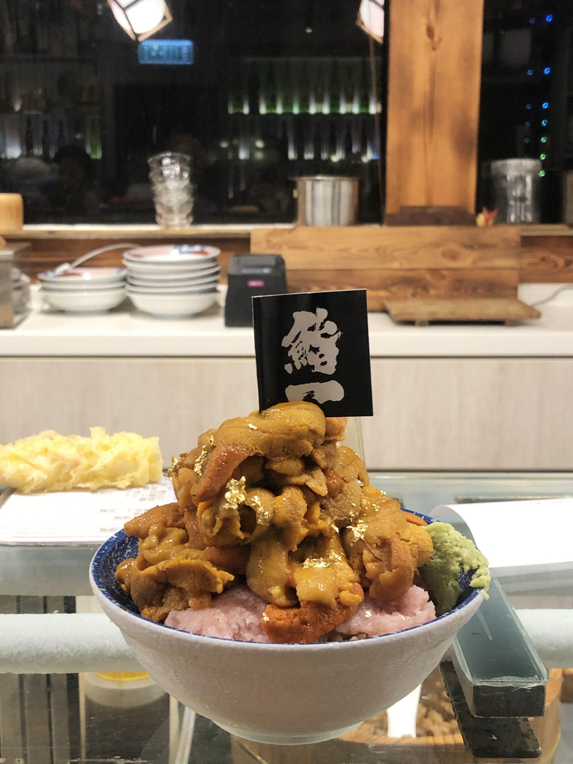 日本料理 壽司 黃店 尖沙咀 厚福街 鮨一 千層海膽杯 馬糞海膽 吞拿魚腩