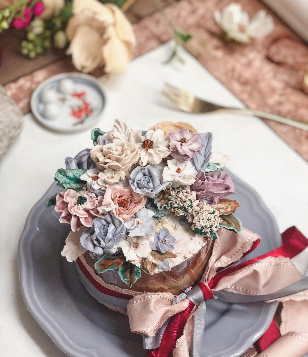 BYJHK 花蛋糕 生日  生日蛋糕