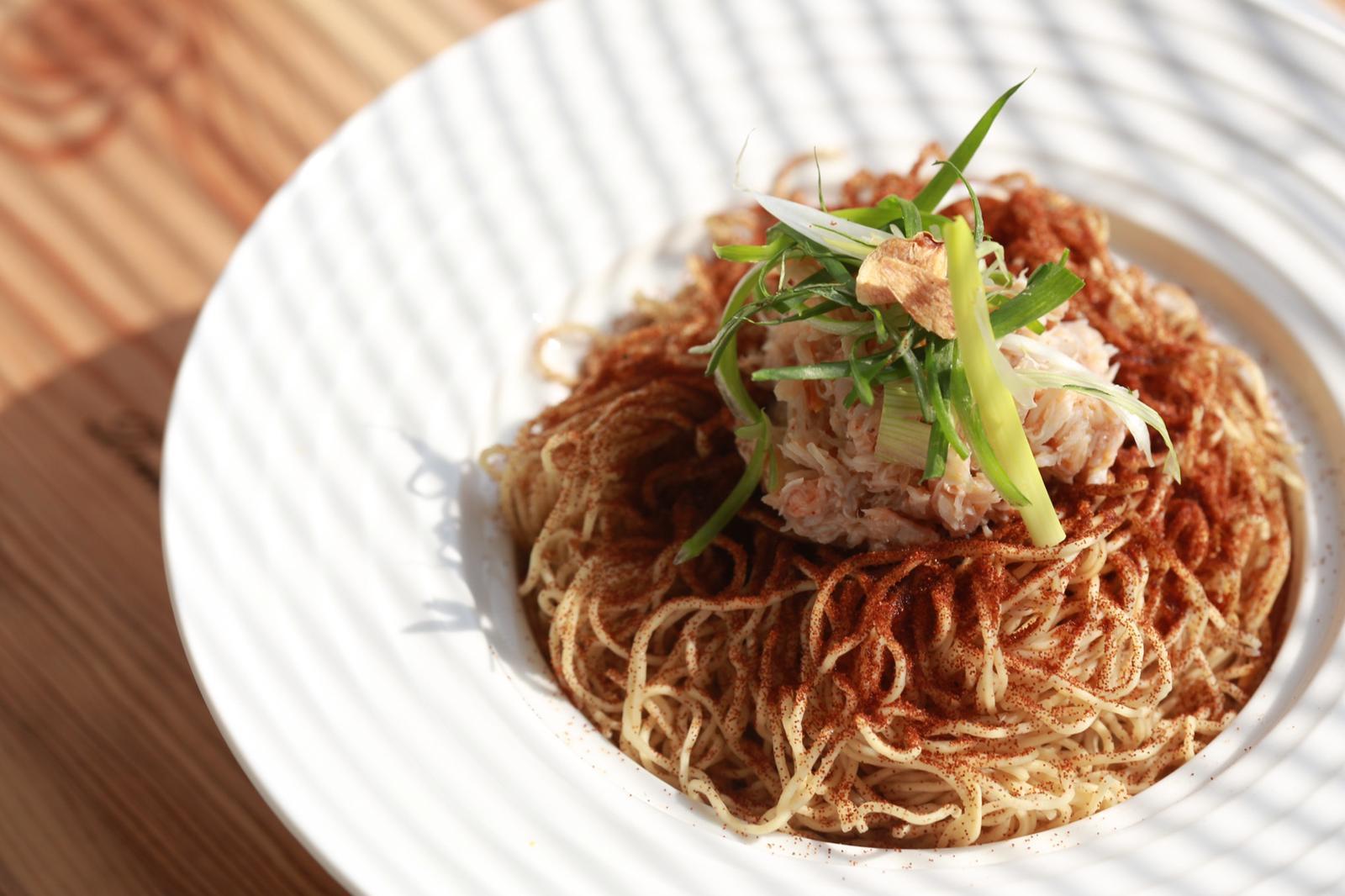 觀塘 Master Room Cafe One Little Room 食物 蝦子蟹肉乾撈蝦子麵