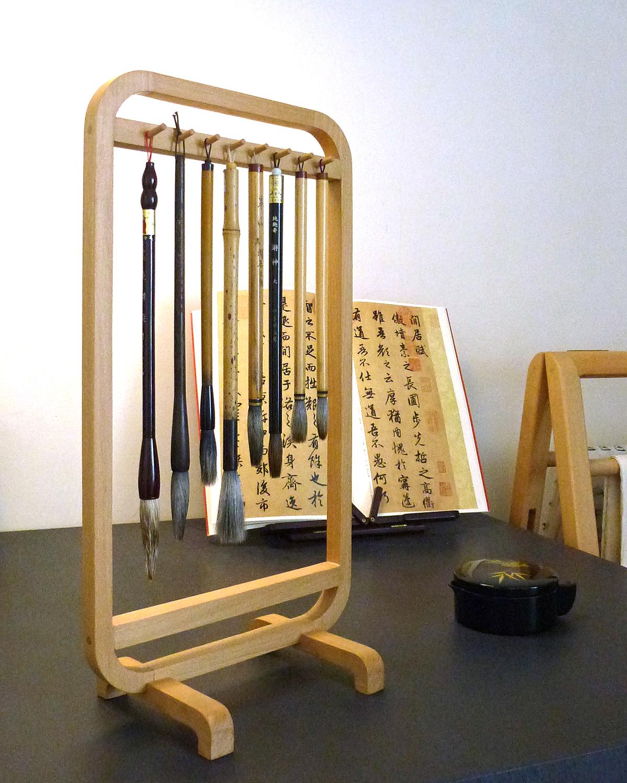 長尾工作室 毛筆架 木工