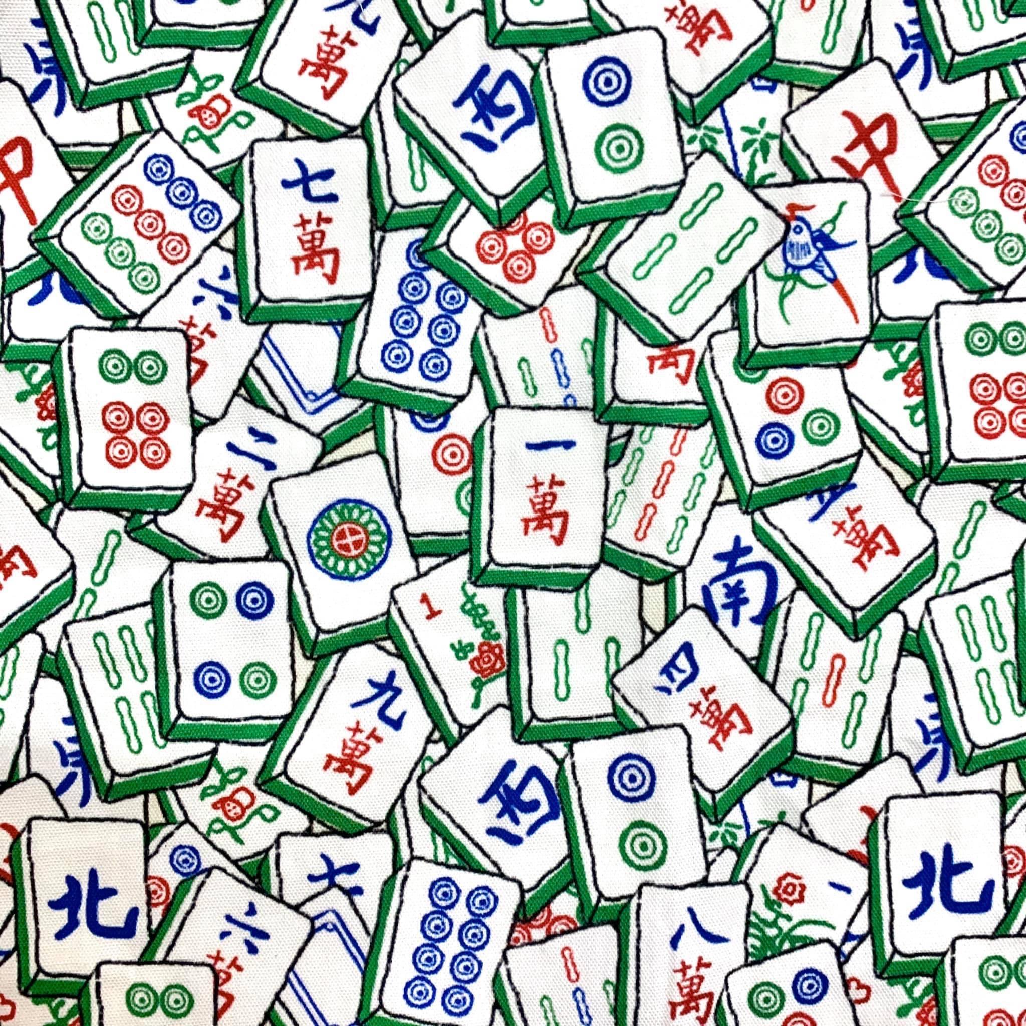 KT Fabrics 自家設計 布料 香港 麻雀 嚦咕嚦咕新年財