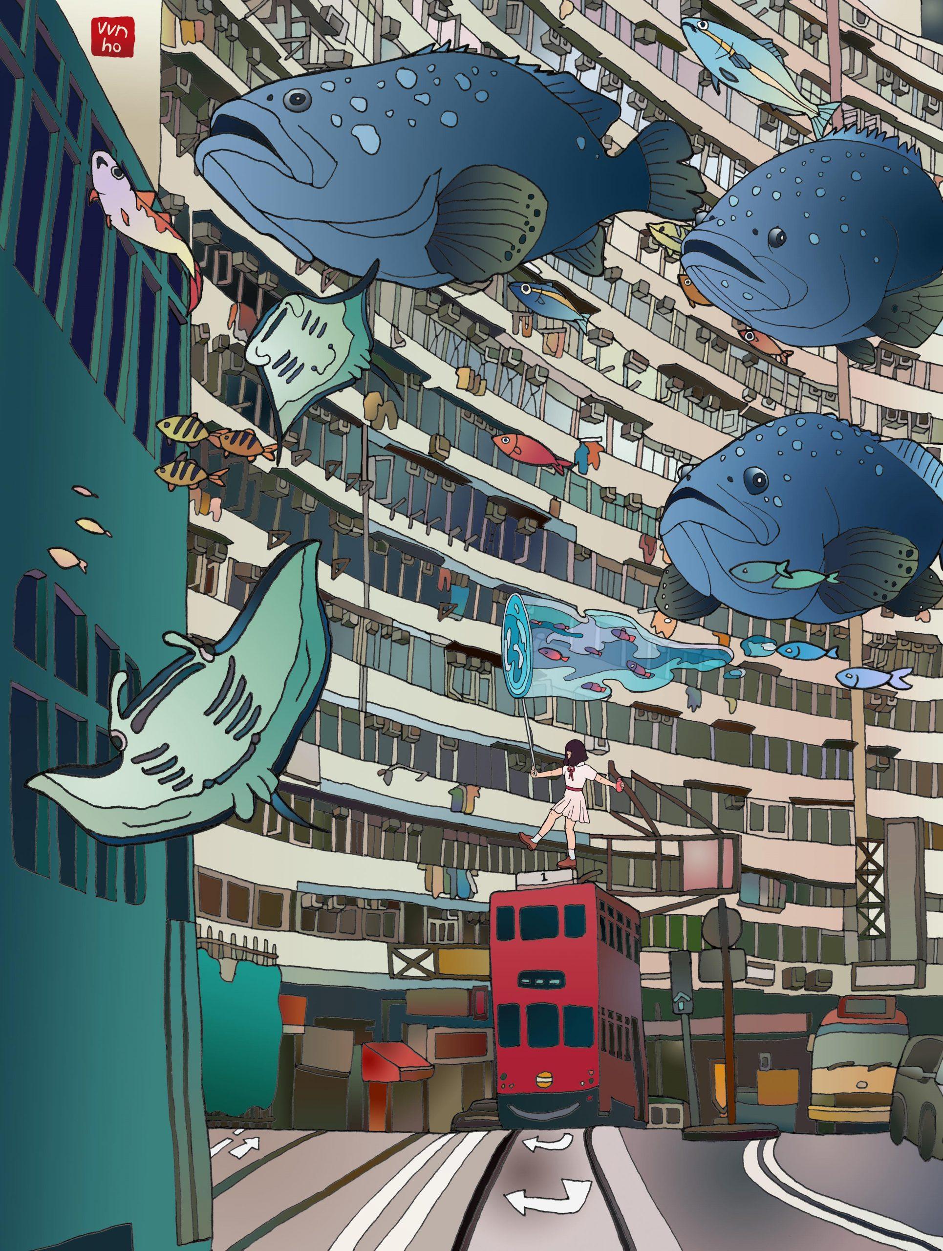 Vivian Ho, 香港插畫師, Wish you were here, 世界紛紛擾擾喧喧鬧鬧 什麼是真實,五月天, 最重要的小事, 英皇道, 電車, 怪獸大廈