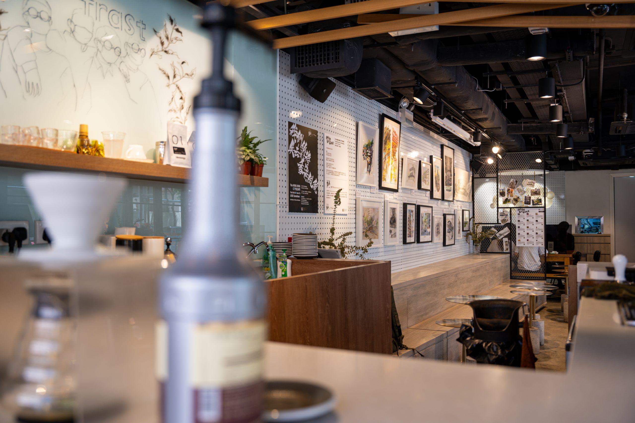 老香港設計展覽 畫下嘢 Contrast 速寫畫展 城市寫生 咖啡