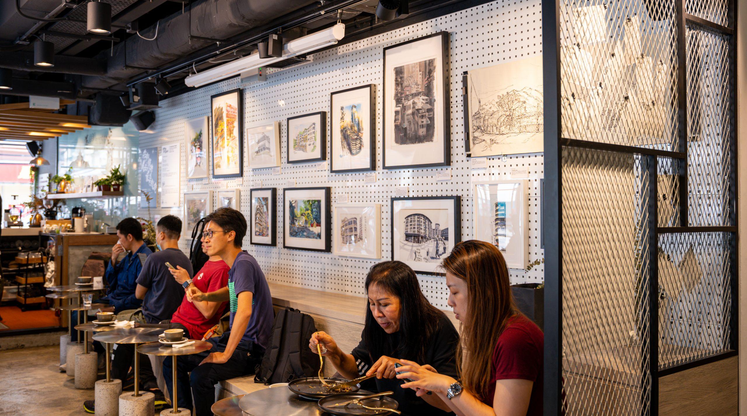 老香港設計展覽 畫下嘢 Contrast 速寫畫展 城市寫生 速寫畫作