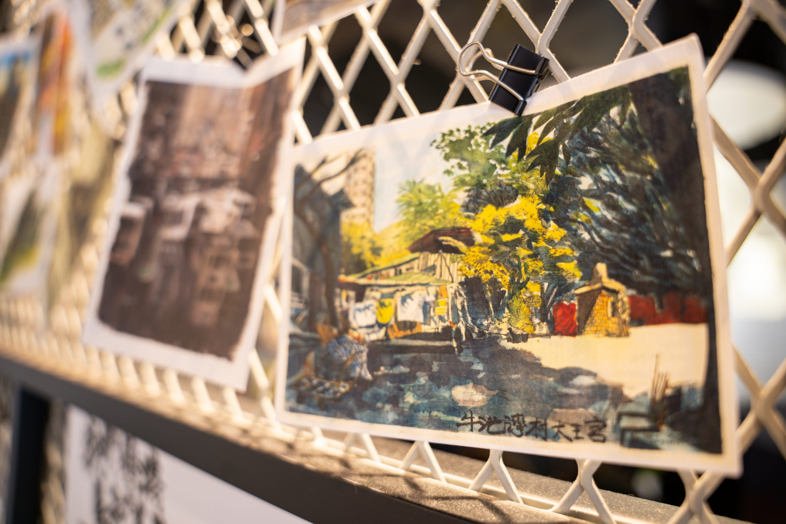 老香港設計展覽 畫下嘢 Contrast 速寫畫展 香港城市 明信片