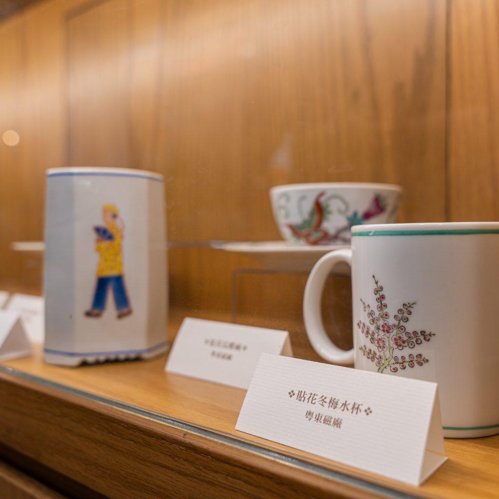 老香港設計展覽 香港遺美 阿銀冰室 歷史 老店 粵東磁廠 貼花冬梅水杯