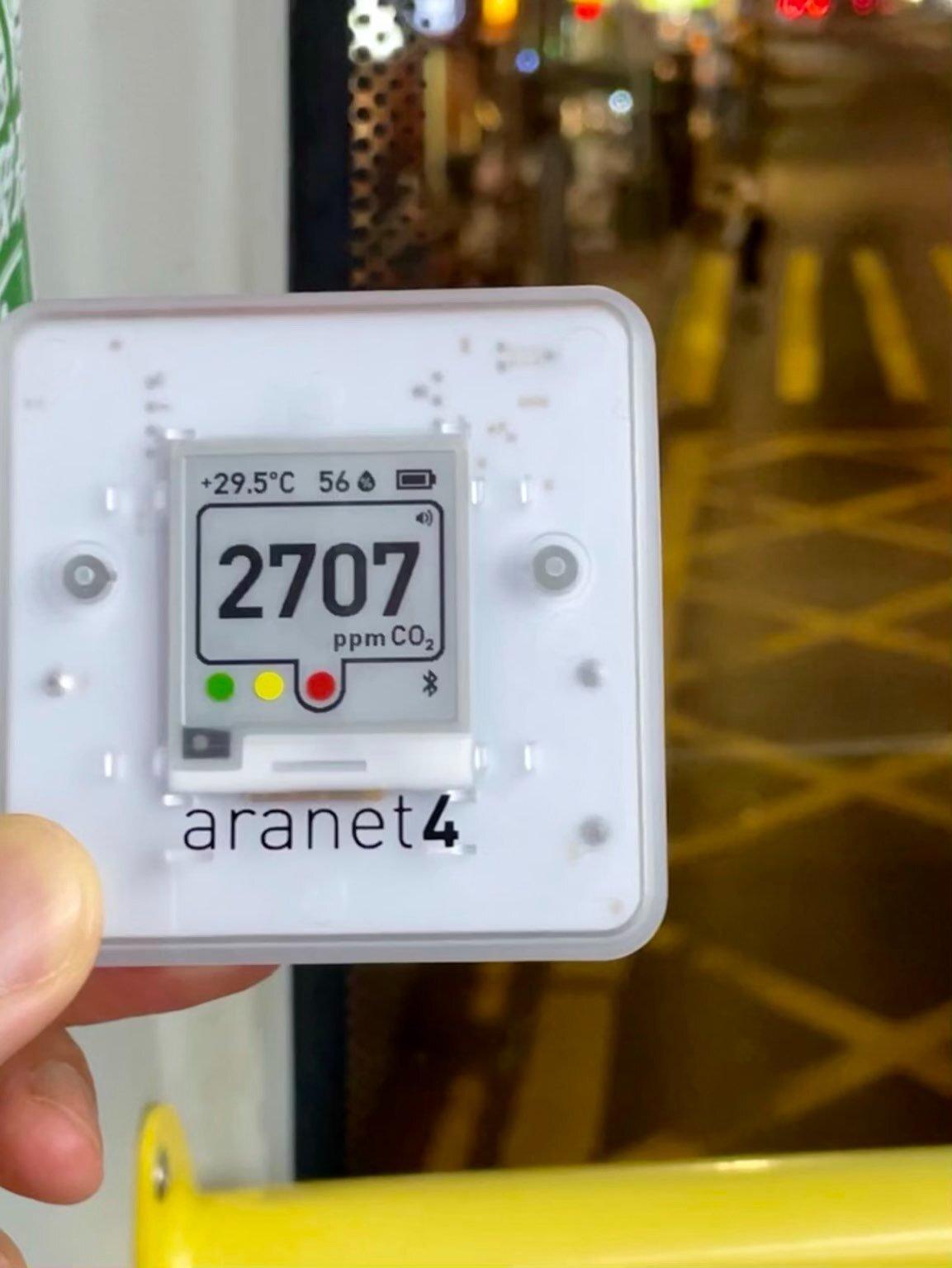 二氧化碳監測器 Aranet 4 空氣質素 巴士