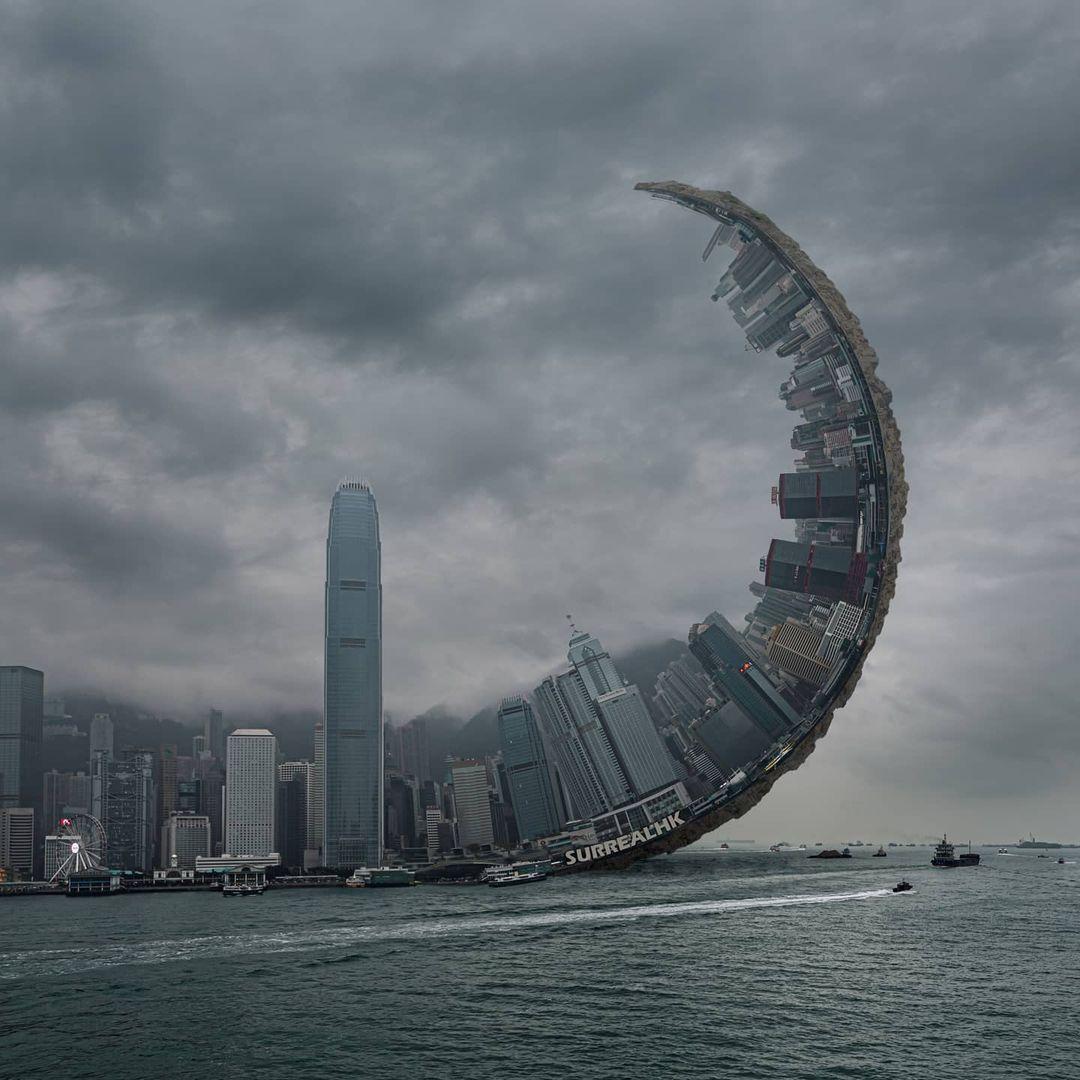 surrealhk Tommy Fung Photoshop 改圖 攝影 個展 維港 颱風