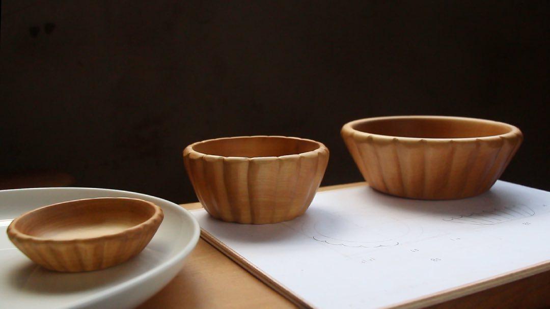 香港人 移民 移民禮物 白犬工坊 蛋撻 蛋撻碗 木工 木製品 布丁