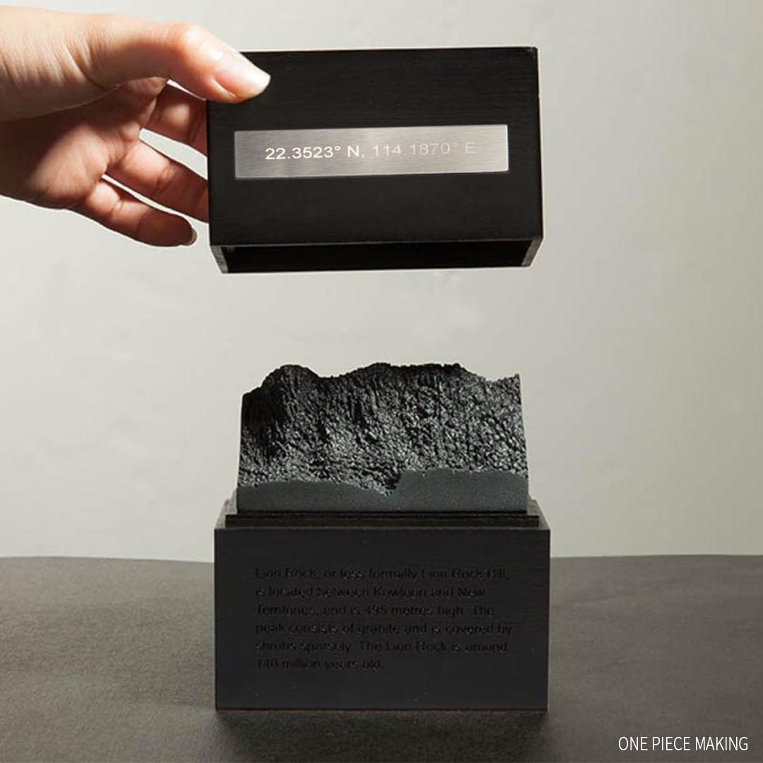 香港人 移民 移民禮物 Onepiecemaking Lion Box 獅子山 3D打印 樹脂 模型 木盒