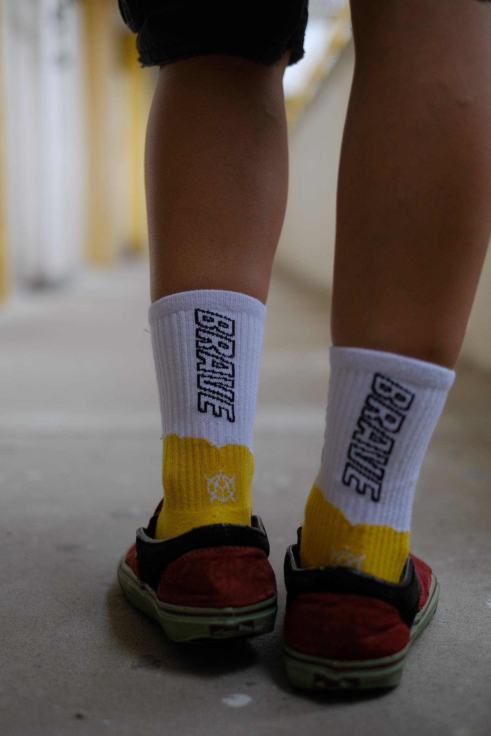 香港人 移民 移民禮物 a yellow object Be Brave Socks Pack 襪子 崇光 時代 蠟燭 BRAVE