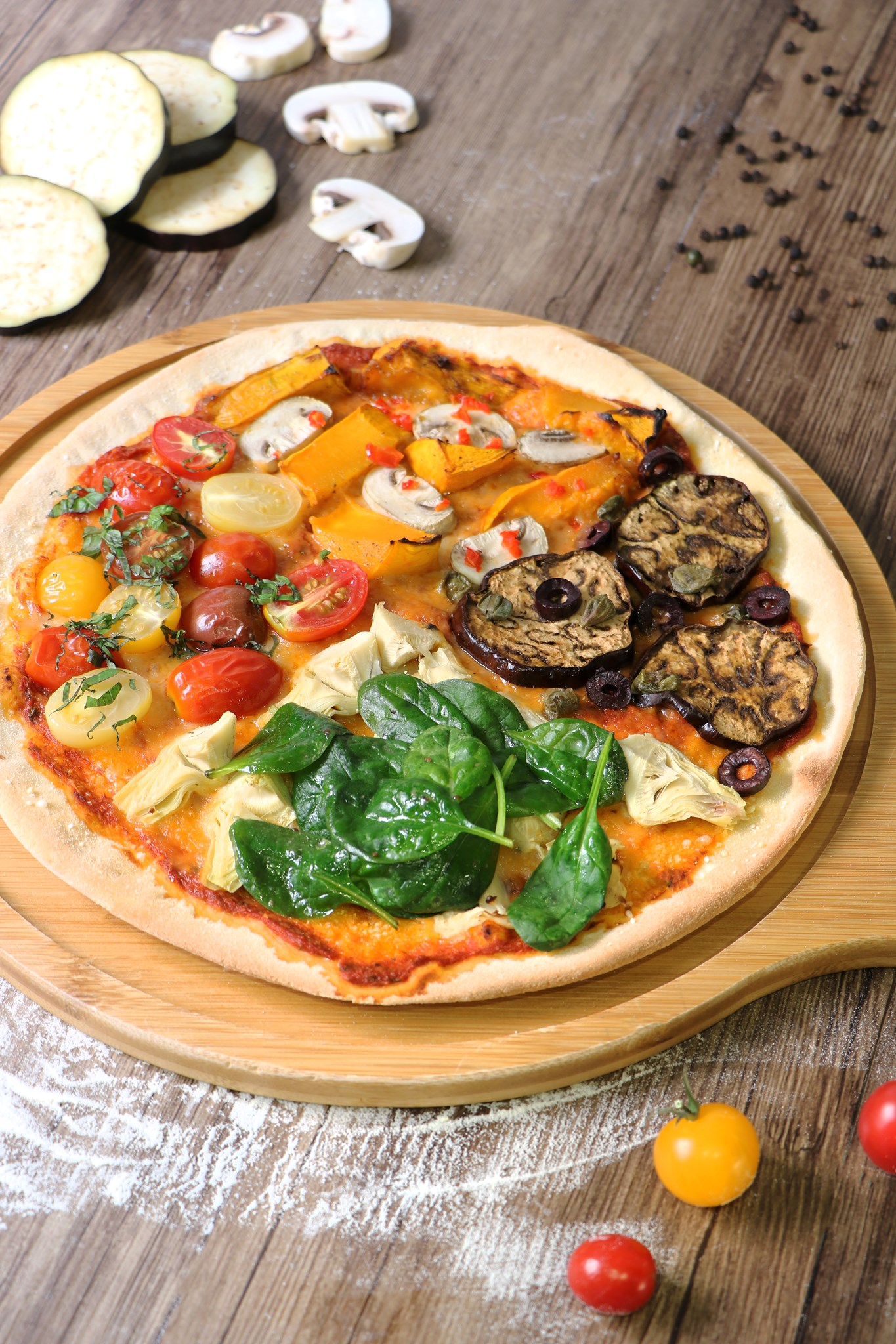 POP vegan/Four Seasons Pizza $178