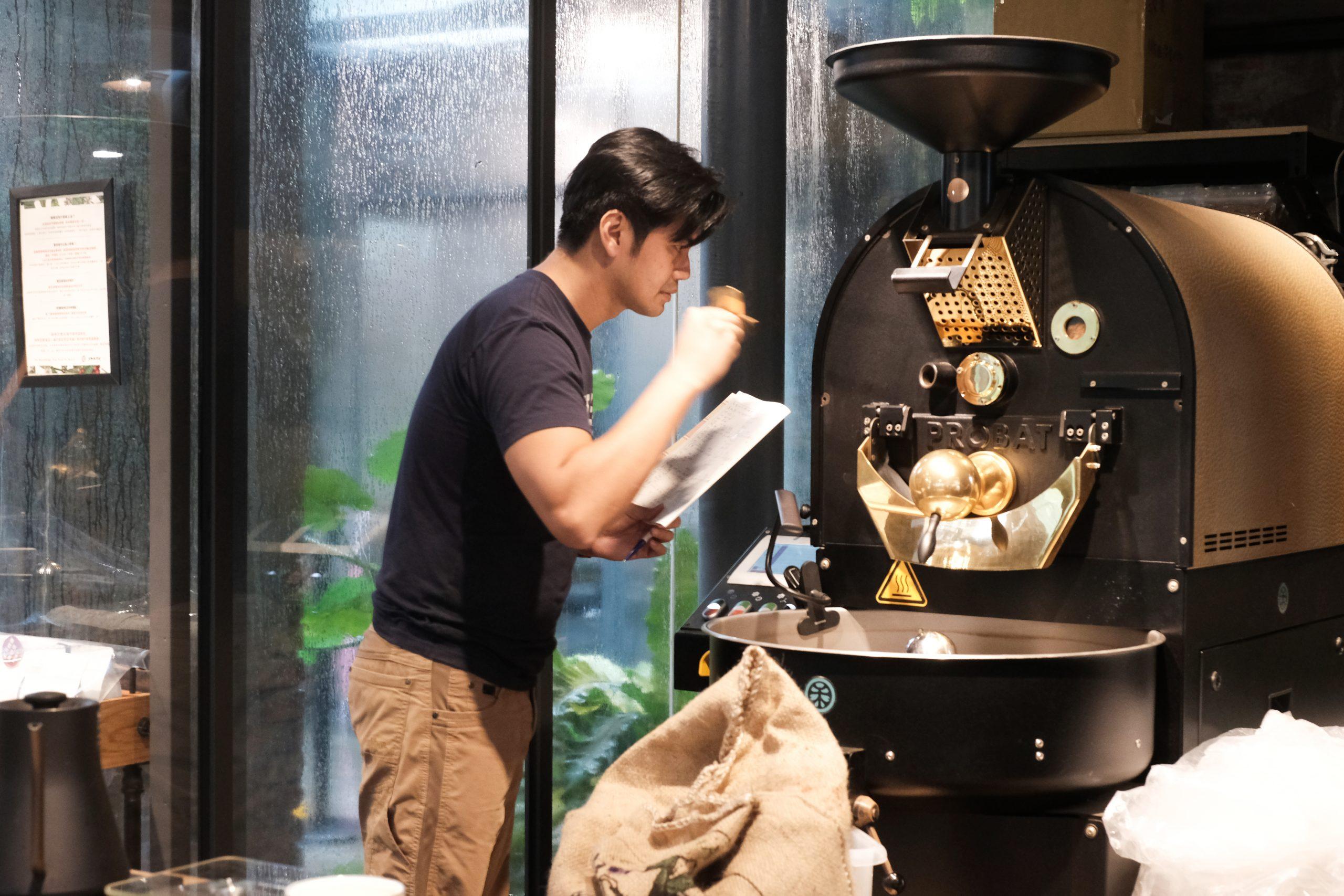 台灣 台灣味市集 pop-up 南豐紗廠 台灣好物 大和頓物所咖啡 賴元豐 咖啡 炒豆機
