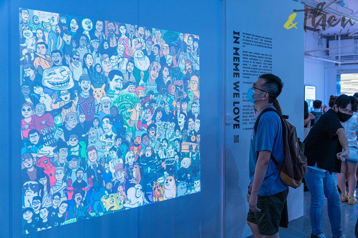 K11 Art Mall 9GAG MEME展覽 MEME MUSEUM MEME圖 NFT藝術畫 投影