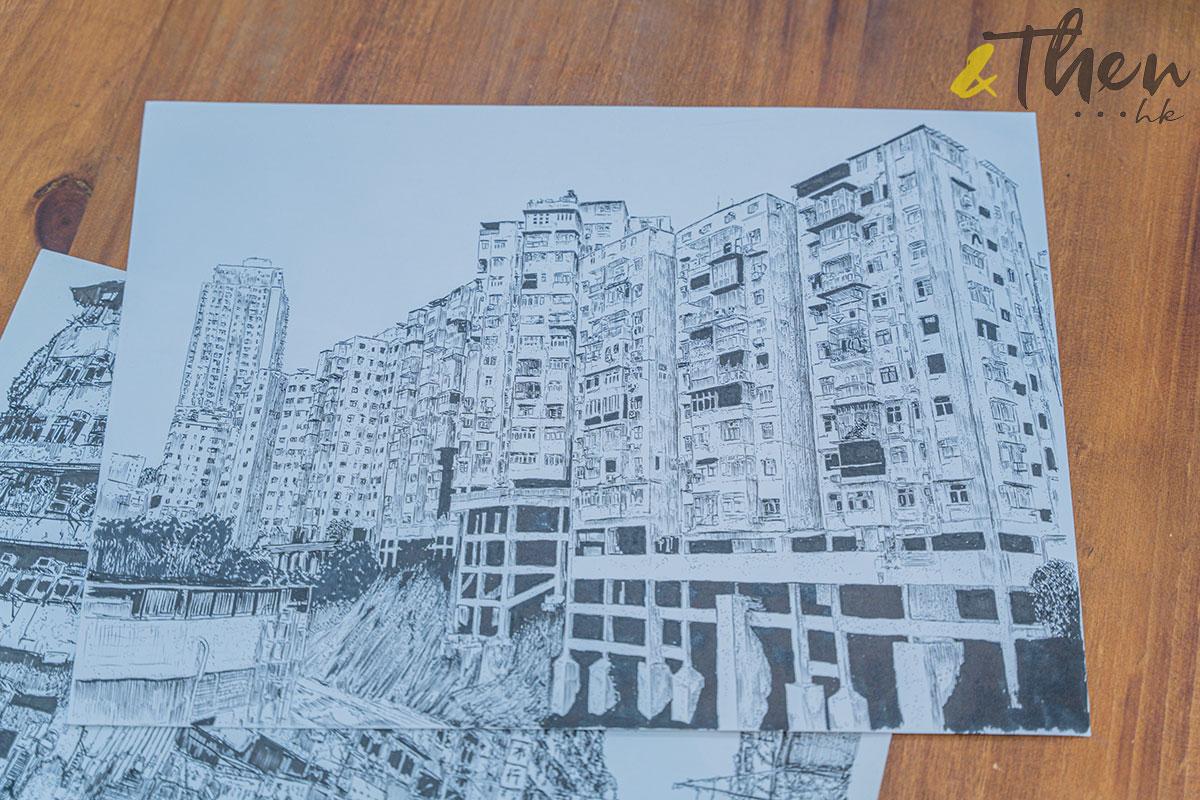 香港藝術 插畫家 Pen So 黑白漫畫 災難之後 九龍城寨 本土文化 畫作 觀塘 月華街