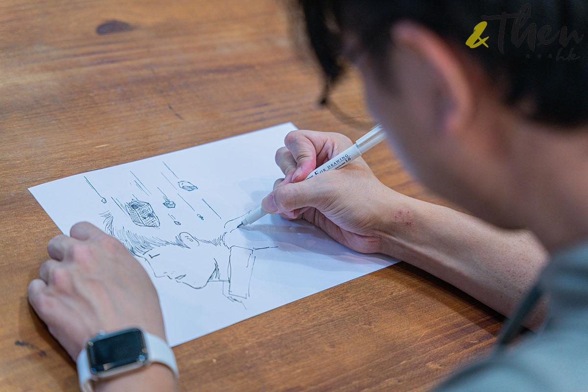 香港藝術 插畫家 Pen So 黑白漫畫 災難之後 九龍城寨 本土文化 畫作 鋼筆 畫畫