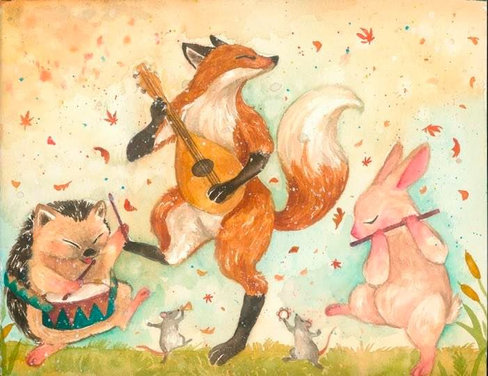 台灣 插畫師 前動畫師 Ingrid 英格藍貓 水彩 療癒 動物 兔子 刺蝟 狐狸
