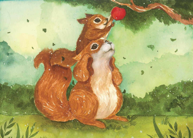 台灣 插畫師 前動畫師 Ingrid 英格藍貓 水彩 療癒 松鼠 蘋果