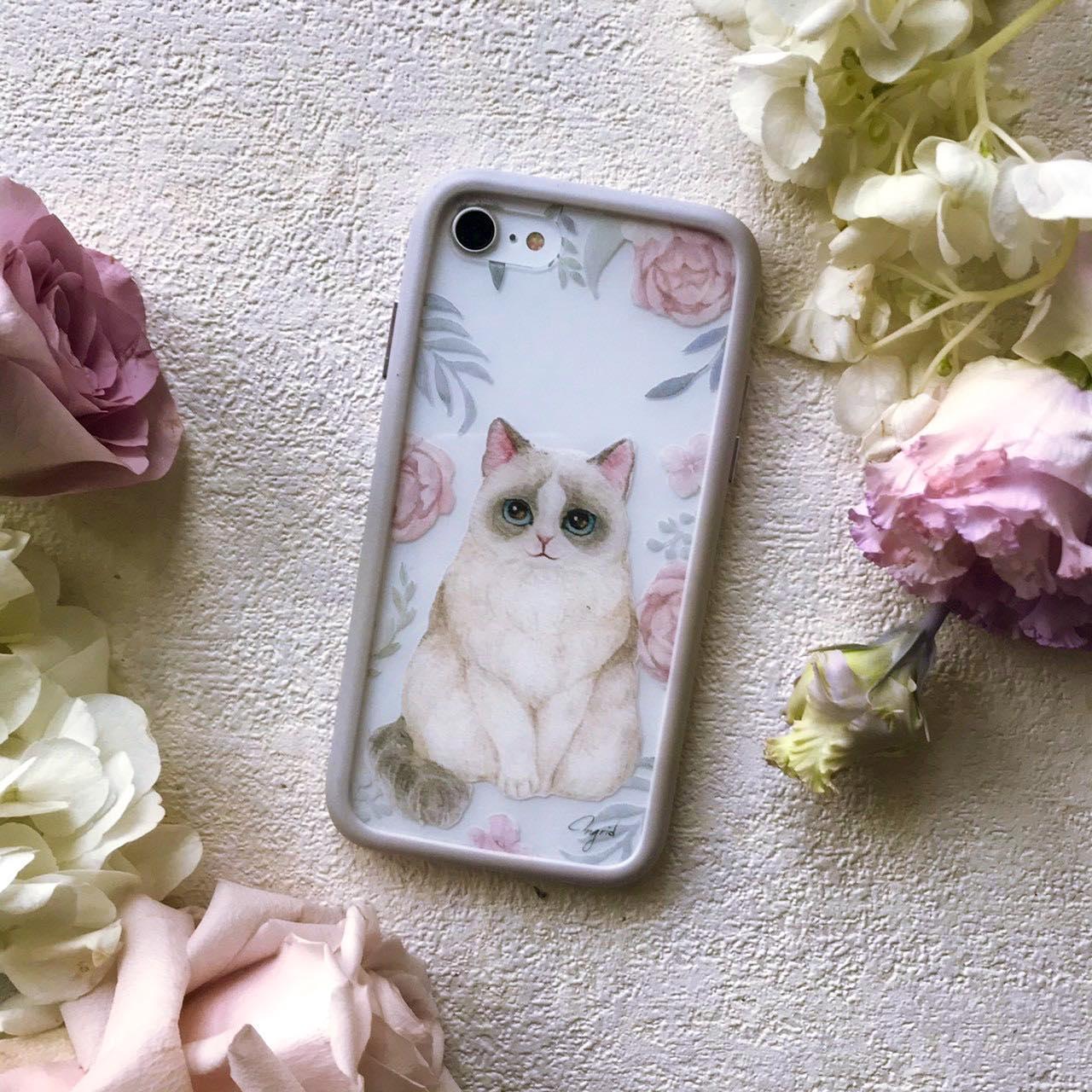 台灣 插畫師 前動畫師 Ingrid 英格藍貓 水彩 療癒 動物 貓 手機殼