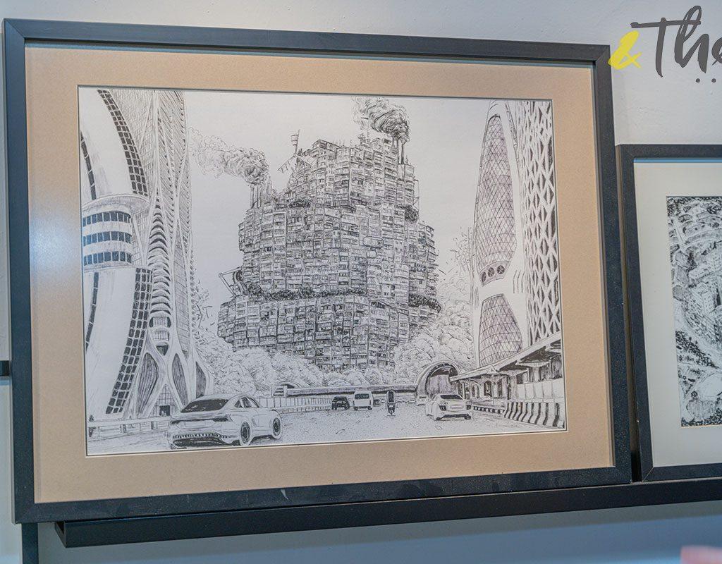 香港藝術 插畫家 Pen So 黑白漫畫 災難之後 九龍城寨 本土文化 畫作 移動城寨