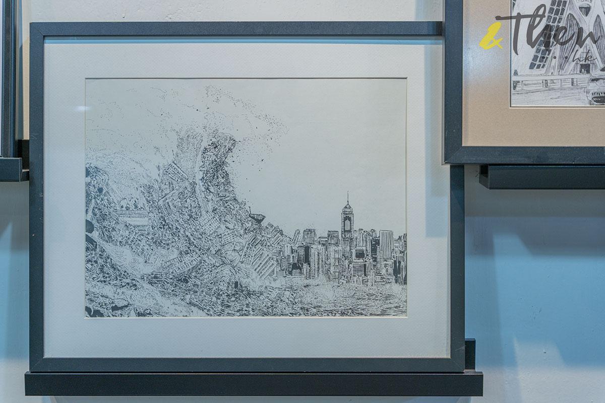 香港藝術 插畫家 Pen So 黑白漫畫 災難之後 九龍城寨 本土文化 畫作 巨浪