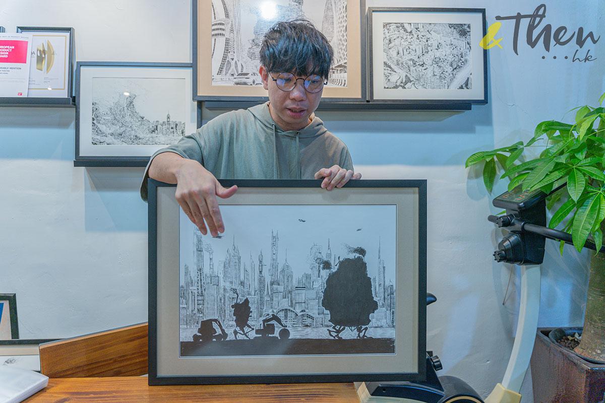 香港藝術 插畫家 Pen So 黑白漫畫 災難之後 九龍城寨 本土文化 畫作 移動城寨 介紹