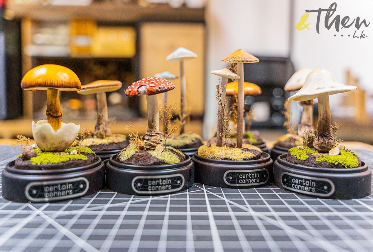 Certain Corners 蘑菇 蘑菇燈工作坊 蘑菇燈 Horner 模型擺設 橙蓋鵝膏菌 毒蠅傘 晚季小菇 鬼傘